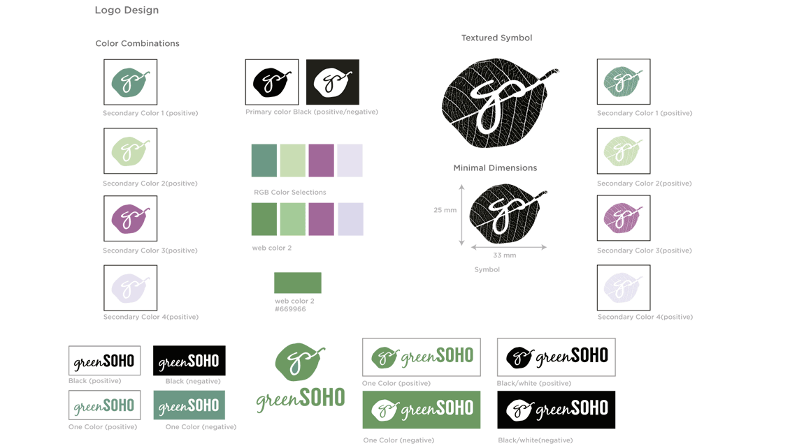 branding, color usage, the green soho